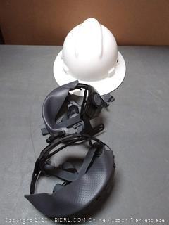 type one white hard hat