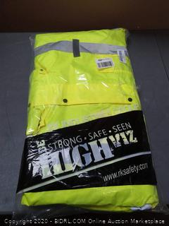 bright yellow 2XL safety clothes