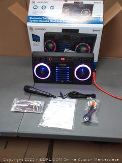 iKaraoke KS303B-BT Bluetooth CD&G Karaoke System with Multi with(powers on)