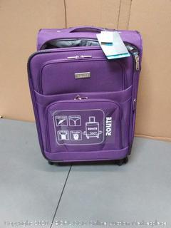 rolite 20 inch purple soft suitcase 360 rotation