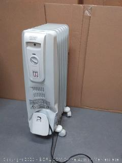 DeLonghi radiant heater( large dent working powered on)