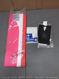 100 paper tissue sheets 1000 multi-use labels and miniature tuxedo sleeve wine bottle decoration