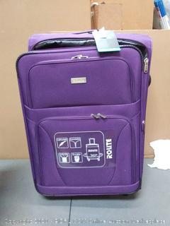 rolite 26in purple roll bag 360 rotation $139 retail