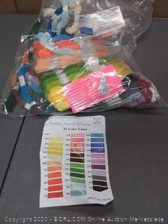 rainbow special selection thread and needle set