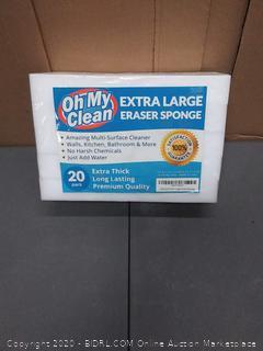 extra large eraser sponge multi-surface cleaner 20 pack