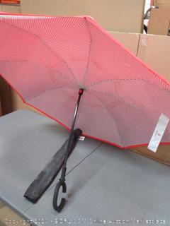 sharply inverted umbrella windproof reversible C shape handle