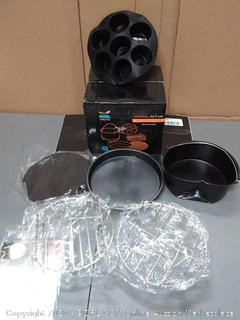 Xl Air Fryer Accessories Xl For Power Airfryer Xl Gowise And Phillips (cake Barrel damaged Pizza Pan slightly dented)