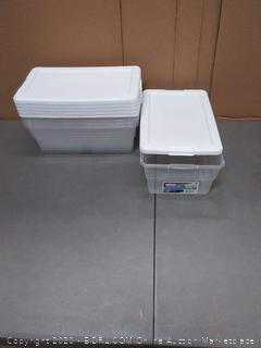 6 Sterilite containers 6 quarts with lids