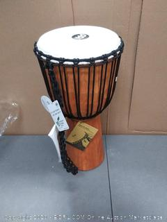 original African rope tuned wood Djembe (sounds great)