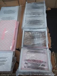 mdesign 5 drawer storage unit pink / White
