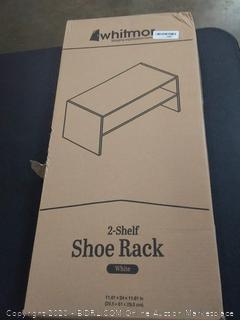 whitmor 2 shelf shoe rack WhiteCopy to (Sp3902-Sp3904)