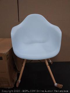 mid-century modern molded armchair White