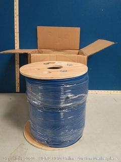 Monoprice Cat6A Ethernet Bulk Cable - 1000 feet - Blue   Solid (online $368)