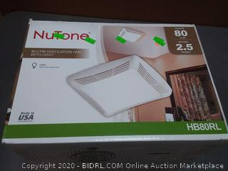 NuTone 80 CFM ventilation fan with light