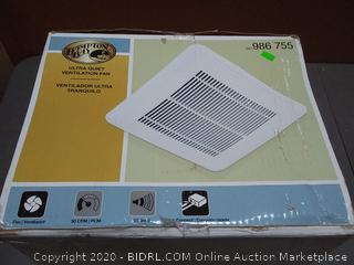 Hampton Bay 50 CFM 0.5 Sone Ceiling Bath Fan-TY-50-A