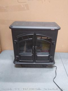 Duraflame 19.5-in W 5200-BTU Black Metal Infrared Quartz Electric (powers on)