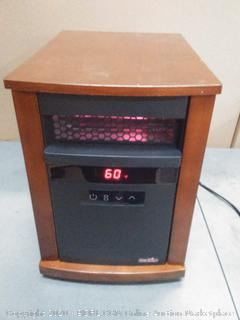 Duraflame 1500-Watt Infrared Quartz Cabinet Electric Space Heater (powers on)