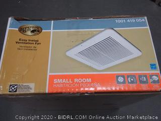 Hampton Bay easy install ventilation fan small room