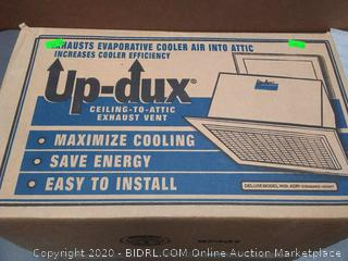 Up-Dux ceiling to attic exhaust vent Deluxe with ADR standard height