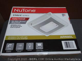 NuTone invent series easy install ventilation fan with light