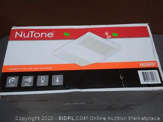 NuTone ventilation fan with light and heater 70 CFM