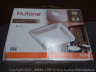 NuTone 50 CFM ventilation fan with light