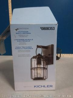 Kichler Montview 11.38-in H outdoor wall Lantern(previously owned)