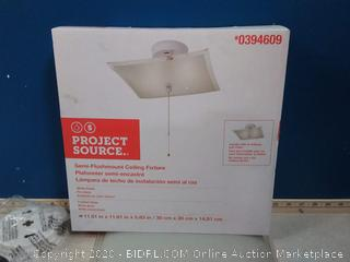 project Source flush-mount ceiling fixture 11.81 in X 11.81 in