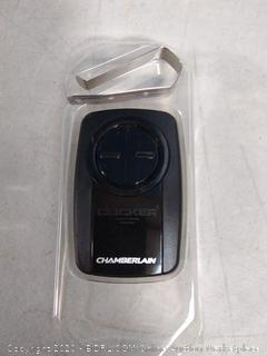 universal 2-button garage door remote by Chamberlain(previously owned/powers on)