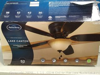 Harbor Breeze Lake Canton 52 in ceiling fan(previously owned/blades scuffed)
