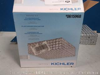"Kichler Krystal Ice 11.75"" Chrome Modern/Contemporary Halogen"
