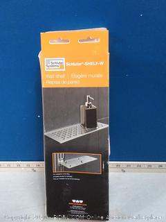 Schluter systems wall shelf