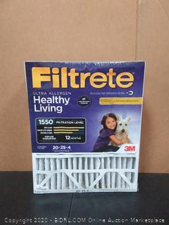 20x25x4 Filtrete Allergen Reduction Air Filter by 3M x2