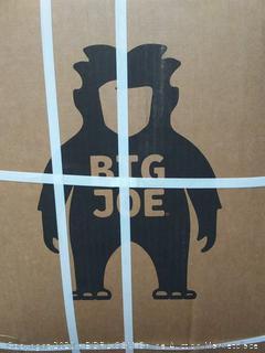 Big Joe large fluff denim Lenox Cobalt bean bag chair