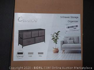 Cerbior 5 drawer storage organizer charcoal