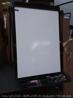 maxtek flipchart easel black frame