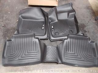 Husky Liners 98791 Black Weatherbeater Front & 2nd Seat Floor Mats Fits Ford Fusion, 2017-19 Lincoln MKZ