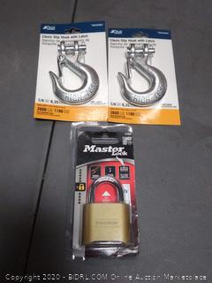 Master Lock level 5 lock plus 2 pelvis slip hook with latch