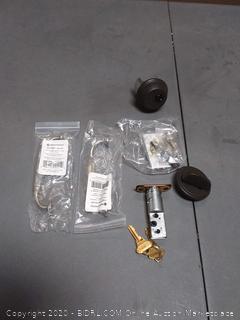 1-Cylinder Deadbolt K4 plus 2 drawer handles