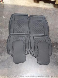 LUCKYMAN CLUB Car Seat Covers for 2 Front Seat Fit Most Sedan SUV Truck Van - Nicely Fit for Chevy Cruze Equinox Malibu Impala Silverado - Airbag Compatible