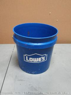 used Lowe's 2 gallon pail bucket blue
