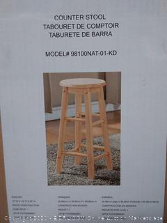 linen home decor counter stool