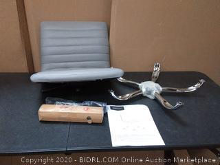 amazonbasics modern adjustable low back armless ribbed task chair Gray