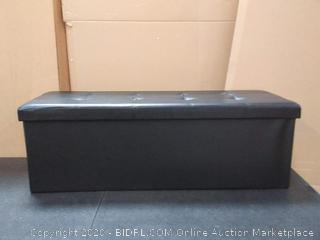 45 in storage ottoman tuft black