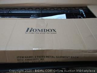 homdox three tier metal garment rack(damage to bottom rack)