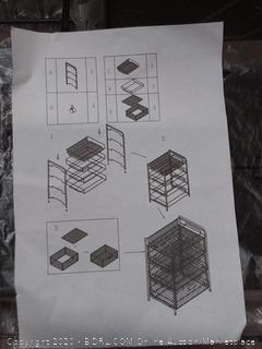 Mind Reader 4DRMESH-BLK 3 Rolling Mesh, Metal Drawers, File, Utility, Office Storage, Heavy Duty Multi-Purpose Cart, Silver, Black