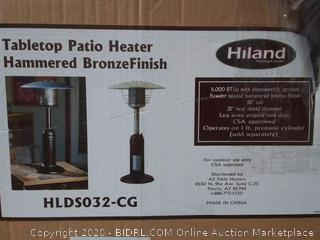 Hiland HLDS032-CG HLD032-CG Portable Ta Patio Heater, 11,000 BTU, Use 1lb or 20Lb Propane Tank, Bronze (online $73)