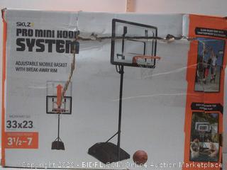 SKLZ PRO MINI Basketball Hoop System. Adjustable Height 3.5-7 ft (online $121)