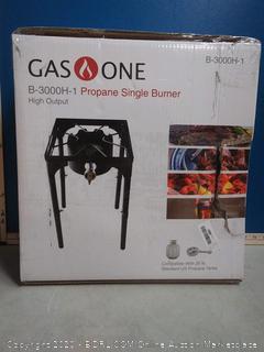GasOne Portable Propane 100, 000-BTU High Pressure Single Burner Camp Stove & Steel Braided Regulator with Adjustable Legs