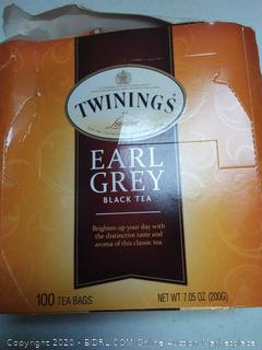 twinings of London earl grey black tea 100 tea bags